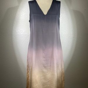 Viviana Uchitel Sunset Silk V neck Dress NWT